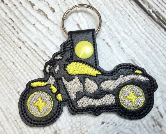 Red Sparkle Vinyl Camper Machine Embroidery Key FobSnap Tab for Keychains