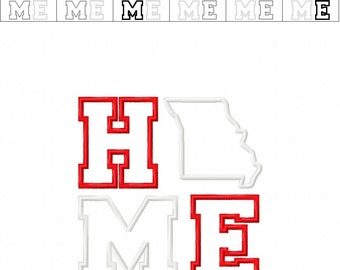 Missouri HOME Applique - 4 Sizes Included - Embroidery Design -   DIGITAL Embroidery DESIGN