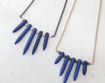 magnesite pyrite destash SALE point necklace turquoise