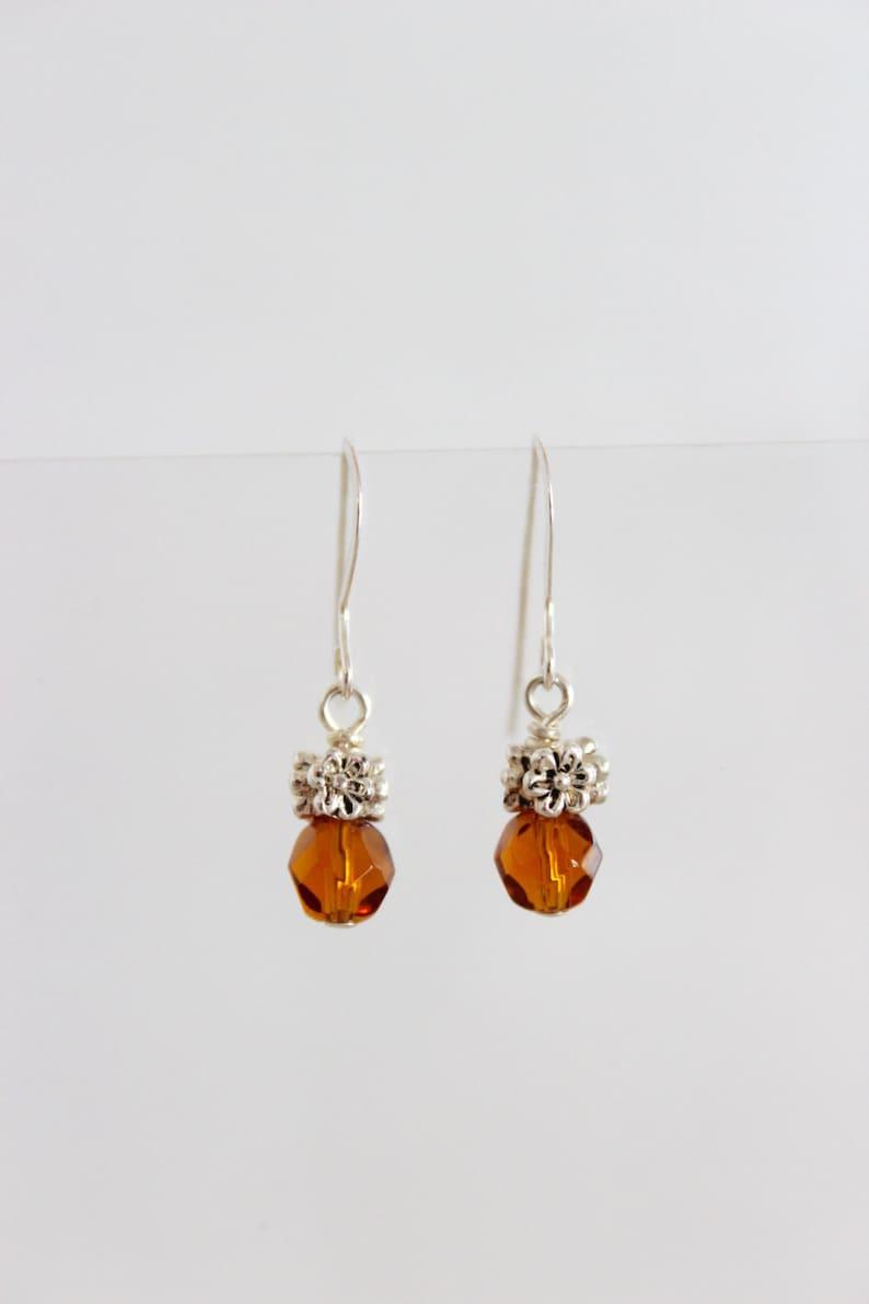 Delicate Bridal Earrings Tiny Dangle Earring Minimalist image 0