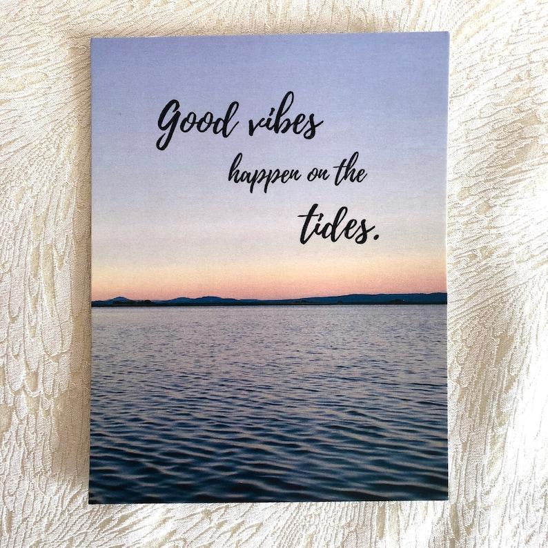 PEI Ocean Postcard Good Vibes post card sunset scene image 0