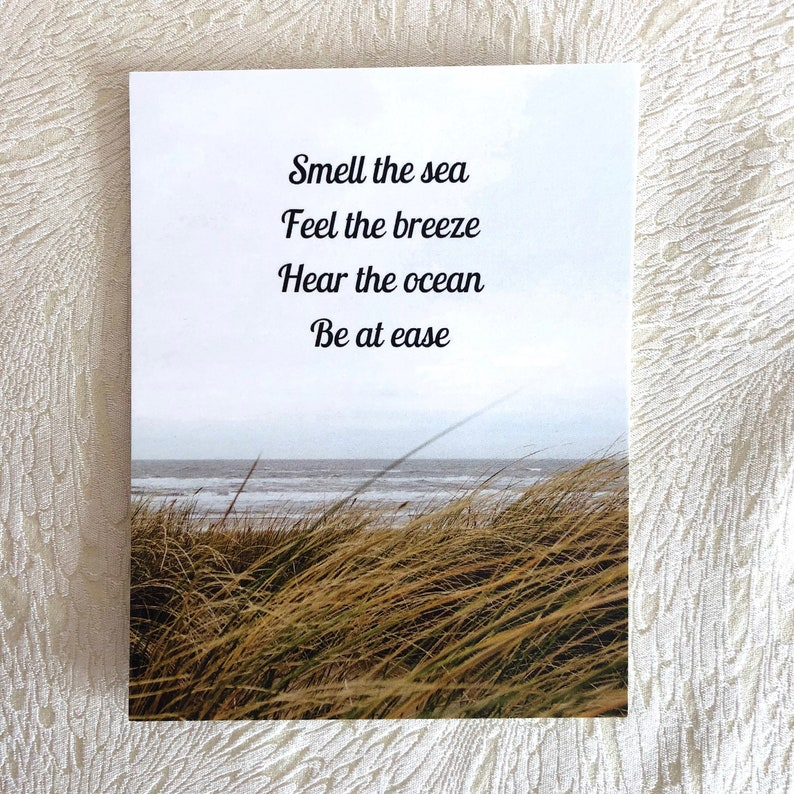 PEI Beach Ocean themed postcard Be At Ease Postcard Smell image 0