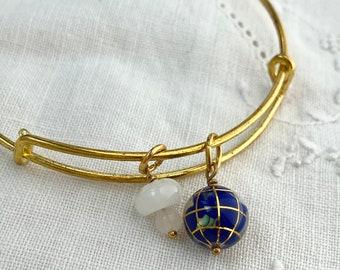 Earth Bangle, Globe Bracelet, Planet Bangle