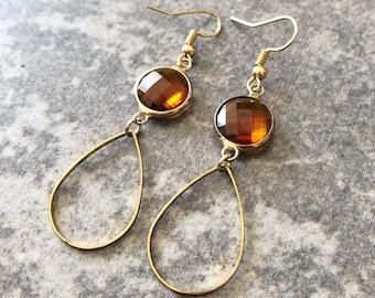 Orange Earrings / Handmade Jewelry  / Orange Jewelry / Gifts for Her / Orange Glass / Earrings