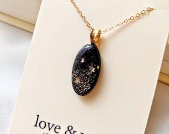 Dark Starry Night Necklace