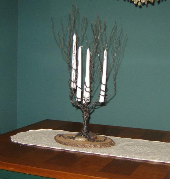 Kerze-Halter-Baum-Skulptur Draht erstaunliche schwarze Kerze | Etsy