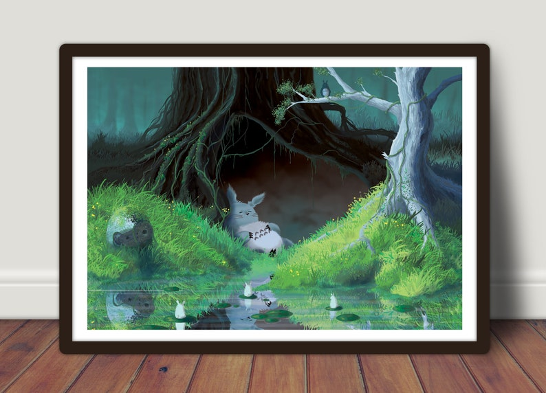 Totoro  Large print 42x59 cm  poster image 0