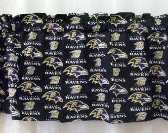 Baltimore Ravens NFL Football Valance Curtain