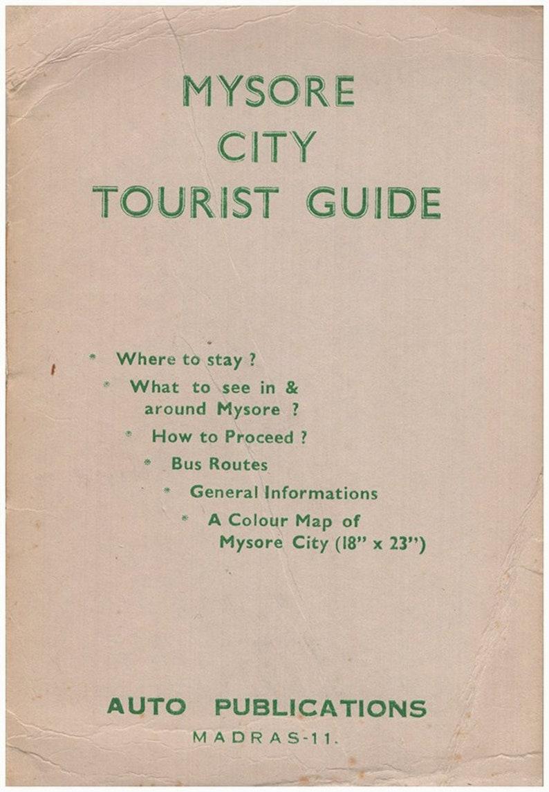 Carte De Linde Mysore.Guide Touristique De La Ville De Mysore Carte Pliee Attache Etsy