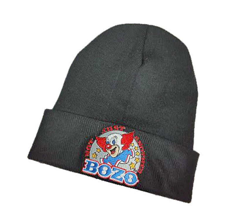 BOZO the CLOWN Knit Beanie Collectable Not Just Another Bozo Embroidered Logo