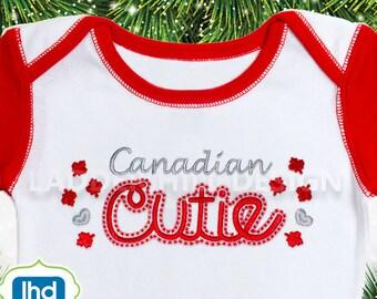 Canadian Cutie -- Canadian Cutie Embroidery Design ID002
