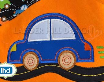 Car Applique Design -- Race Car Applique -- Car Applique Embroidery Design TR004