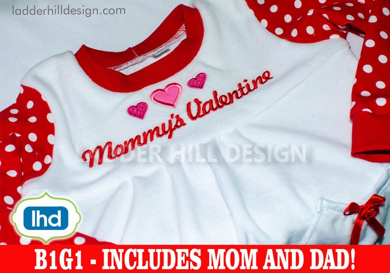 Mommy's Valentine Applique  My First Valentine's Day image 0