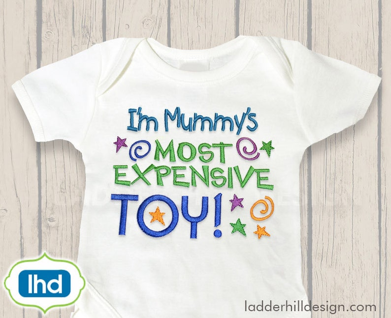 Mummy's Most Expensive Toy Embroidery  Mummy Embroidery image 0