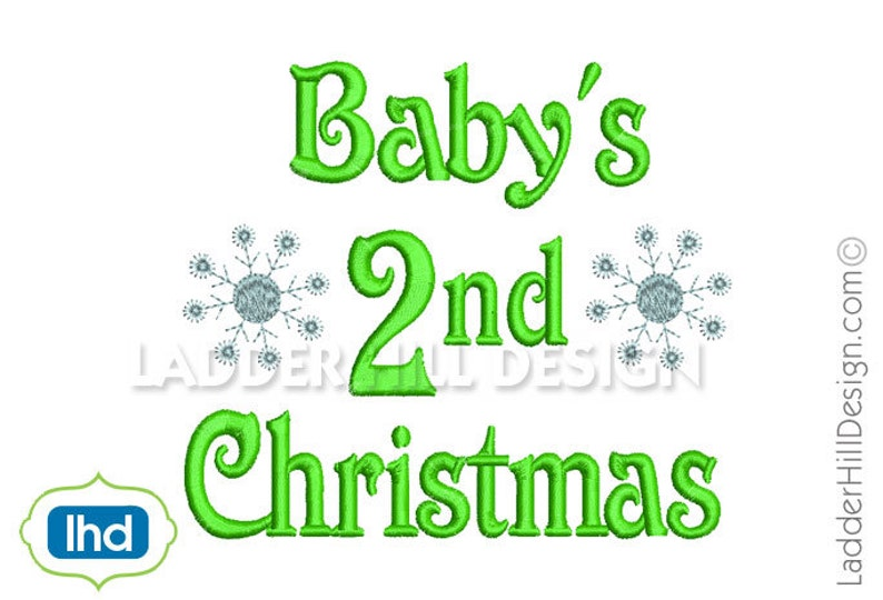 Babys Second Christmas with Snowflakes  Babys 2nd Christmas image 0