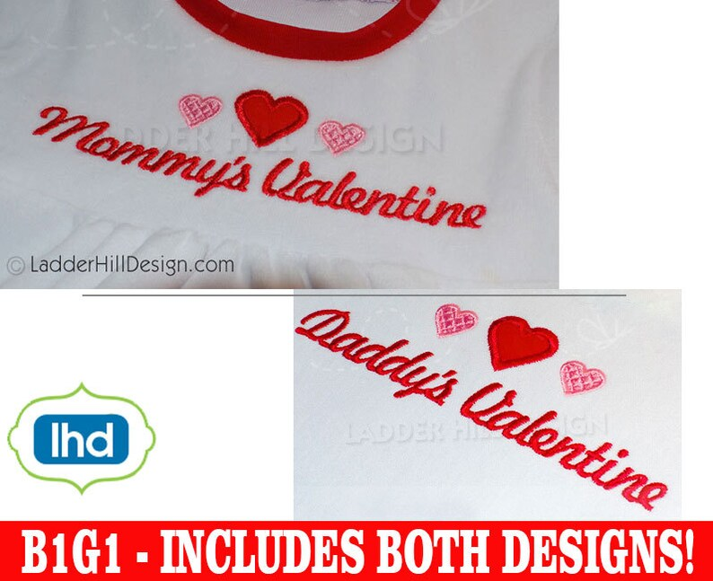 BOGO FREE  My First Valentine's Day Applique  image 0