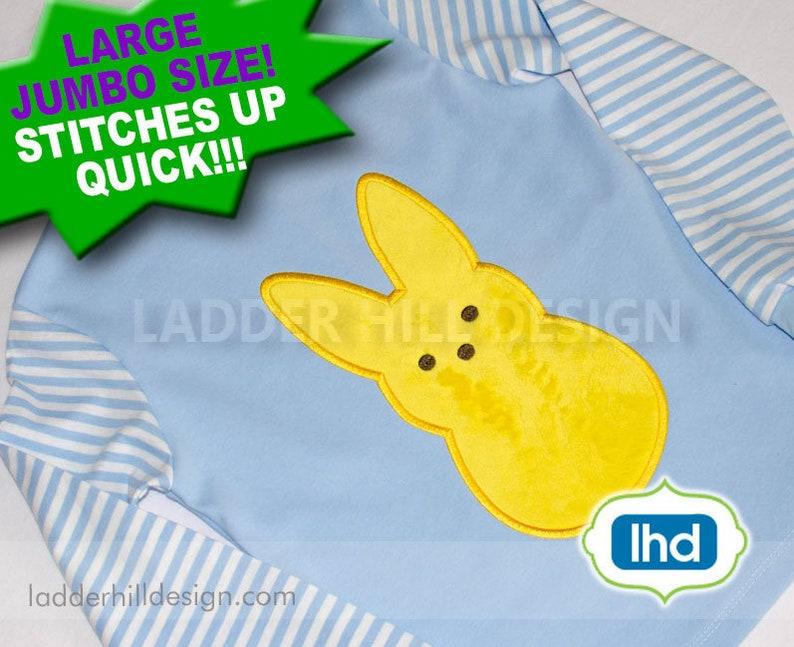 Peep Bunny Applique Embroidery  Peeps Applique  Easter image 0