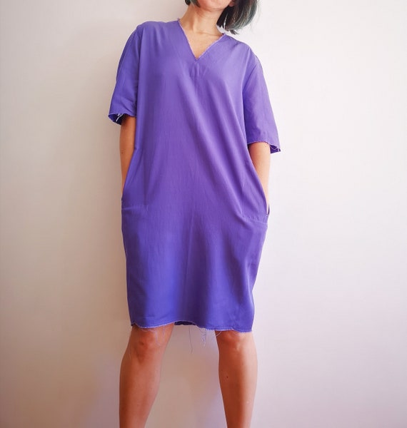 Lilac short sleeve dress