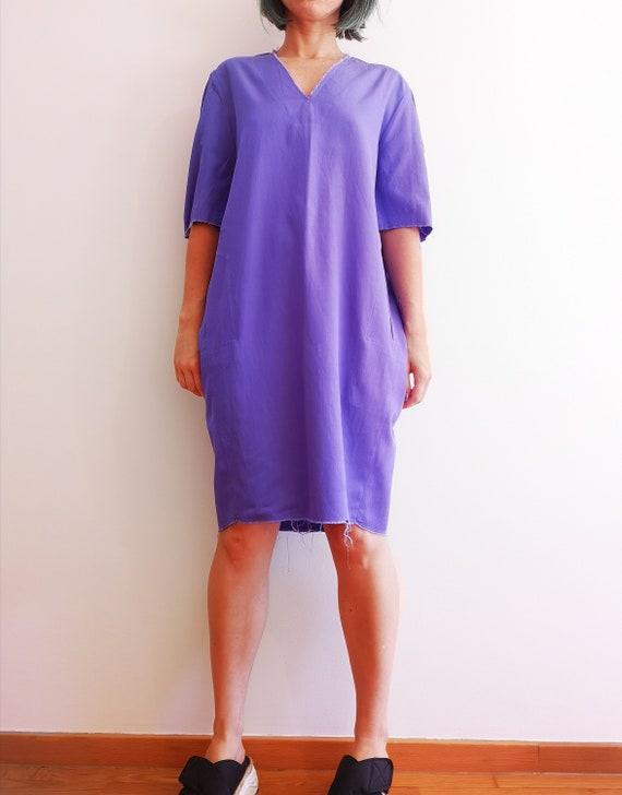 Lilac short sleeve dress