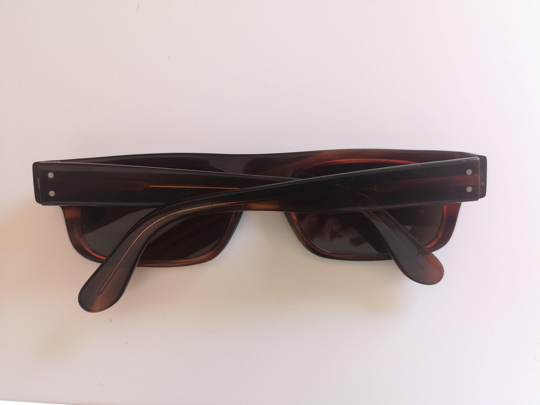 Gafas de sol vintage marrón rectángulo