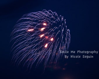 Purple Fireworks Photograph - Digital File