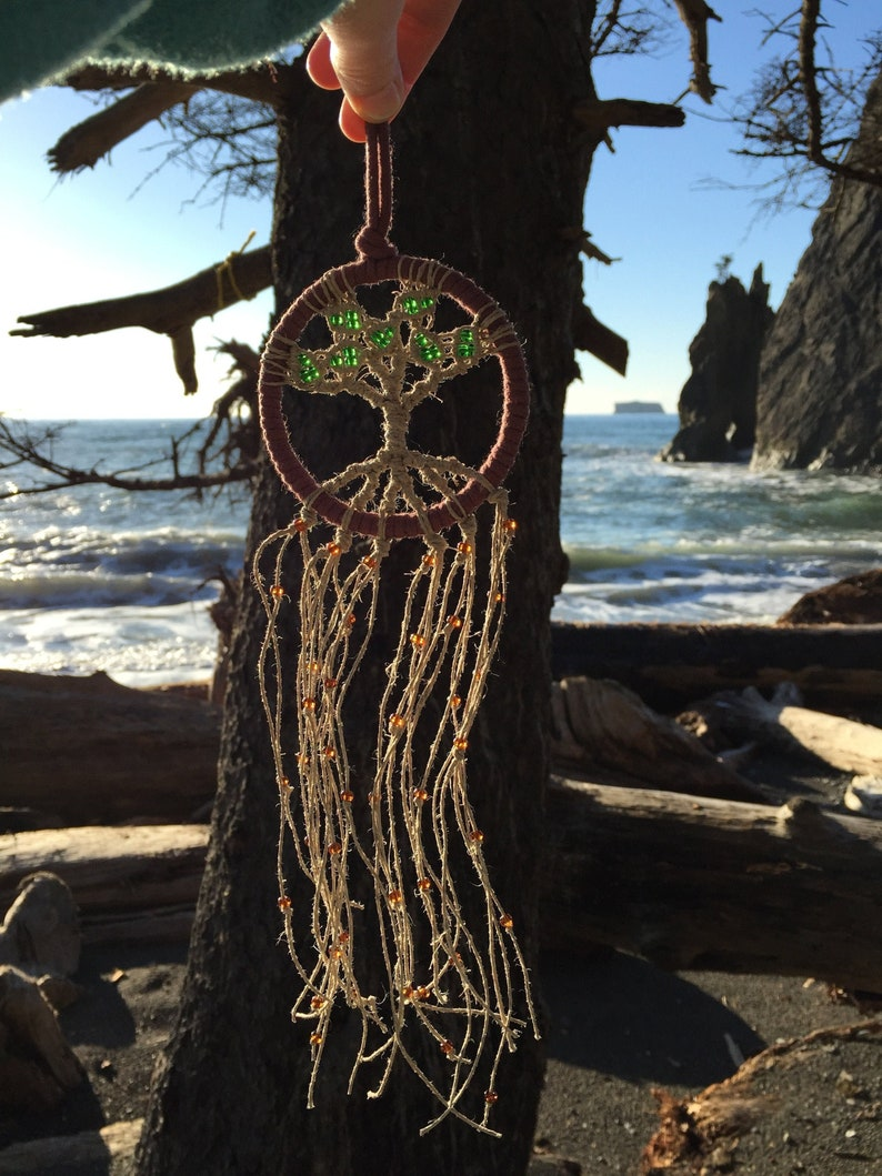 Original Metta Tree on 3 Hoop Tree of Life Suncatcher image 0
