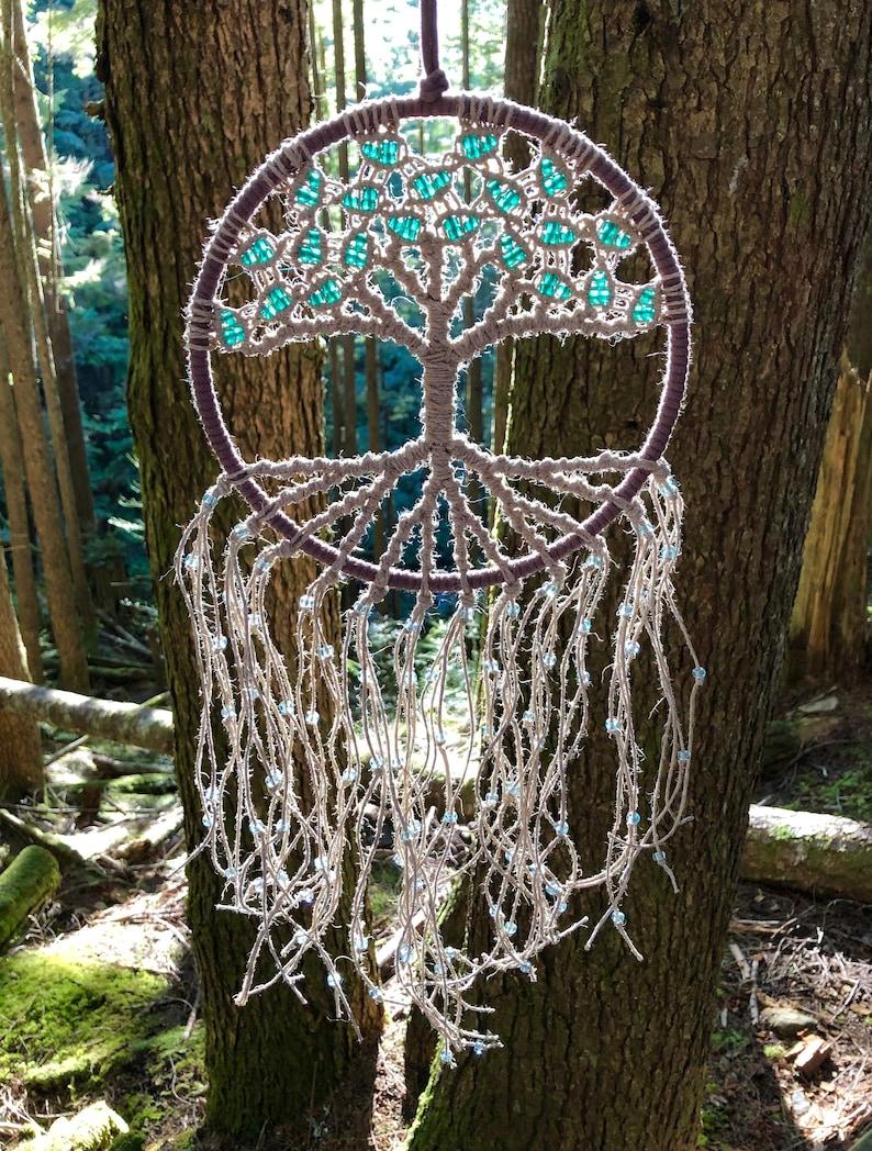 Tree of Life Wall Hanging / Macrame Wall Hanging / Hoop Art / image 0
