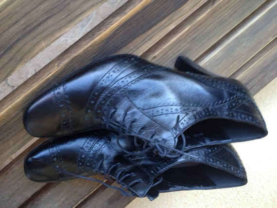 Leather Oxfords, Black Oxford Shoes, Oxford Heels… - image 4