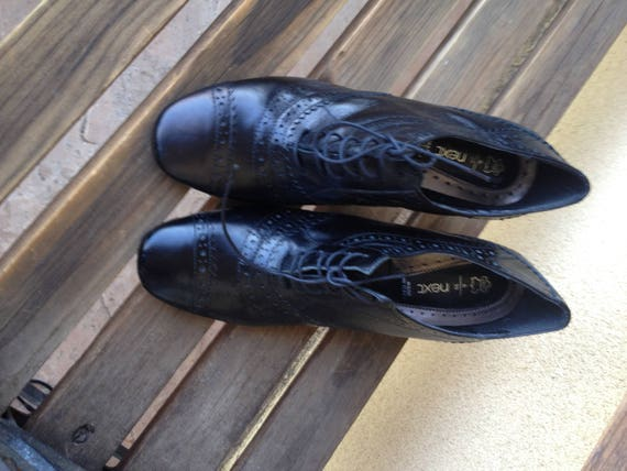 Leather Oxfords, Black Oxford Shoes, Oxford Heels… - image 2