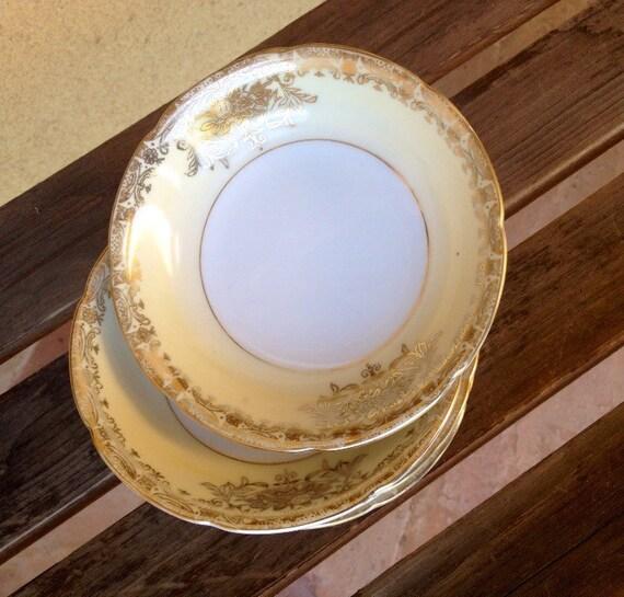 Goldena cuvette à dessert en porcelaine - porcelaine Fine fabriqué au Japon - conception d'or dessert - bol en porcelaine fine de crème glacée - conception d'or petit bol