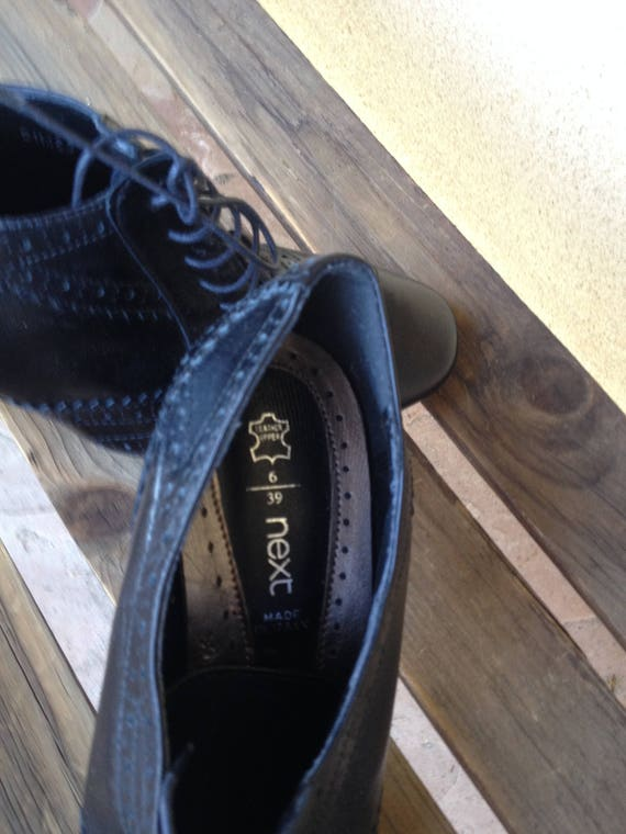 Leather Oxfords, Black Oxford Shoes, Oxford Heels… - image 3
