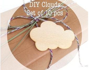 FLUFFY CUPCAKE Shape Craft Blank 10cm BIRCH Wood Decoration Embellishment Tag