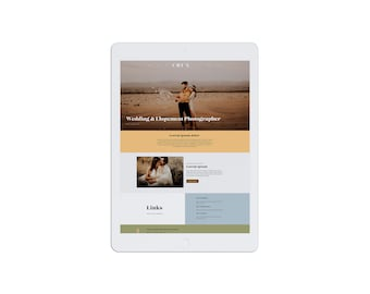 Squarespace 7.0 and 7.1 Website Template for Wedding Photographers