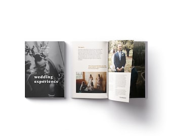 Wedding Photographer Wedding Guide Marketing Template for Canva and Photoshop