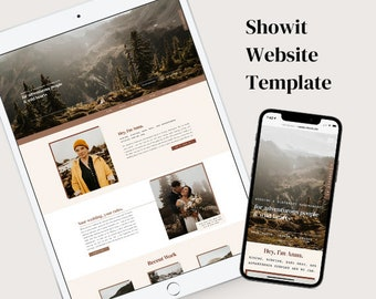 Showit Template for Wedding and Elopement Photographers