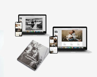 Wedding Guide and Price Guide Marketing Template Bundle for Canva or Photoshop