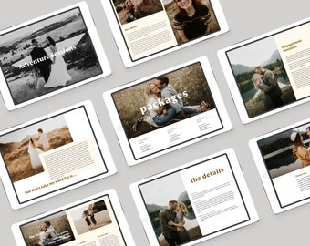 Couples & Engagement Sessions Photographer Price Guide Template for Canva or Photoshop