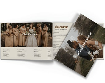 Wedding Photographer Price Guide Marketing Template for Canva or Photoshop