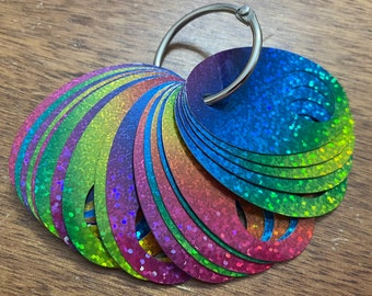 Bright Glittery Thread Drops