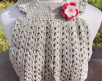 Crocheted Baby Girl Dress