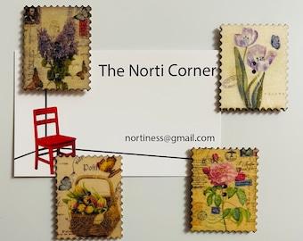 Wooden Flower Needle Minders