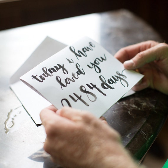 today i have loved you for days love note wedding note etsy