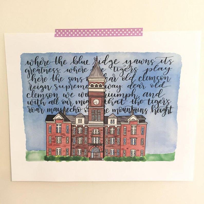 PHYSICAL Clemson Tillman Alma Mater Gift - graduation gift, housewarming,  clemson university
