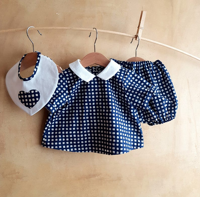 c63de563a Nautical style Baby Sailor outfit classic blue matching
