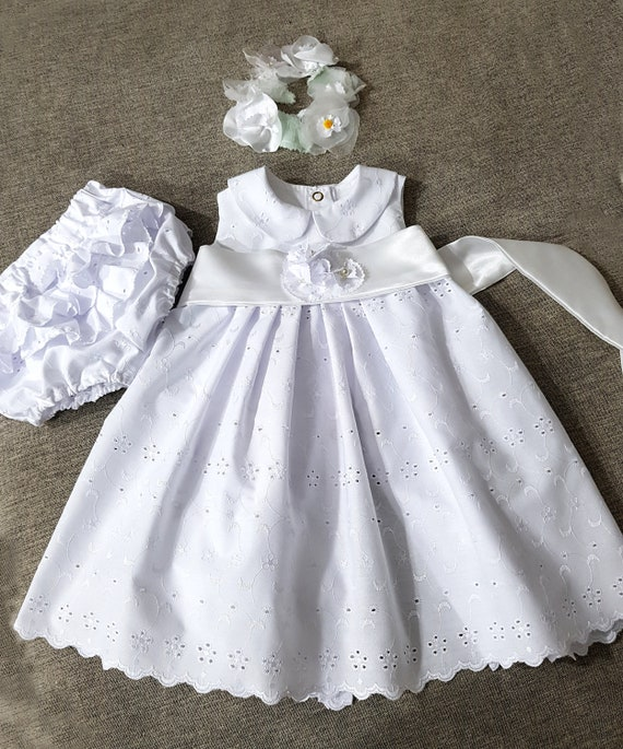 0a200d1f0 Baptism Baby White Gown Heirloom Lace Christening toddler