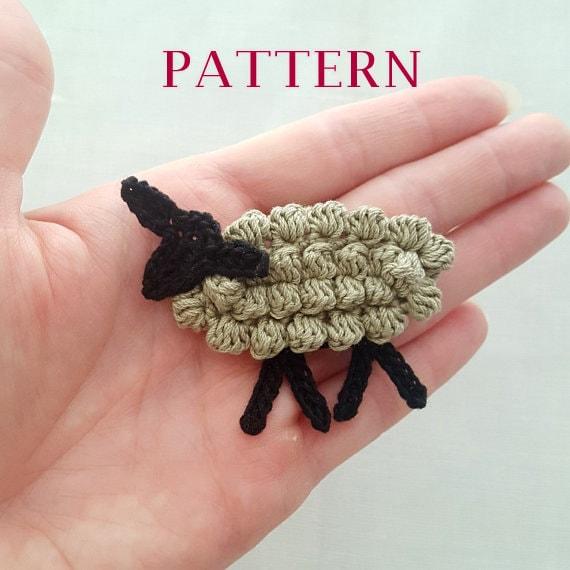 Crochet Sheep Pattern Crochet Lamb Pattern Sheep Charm Pattern