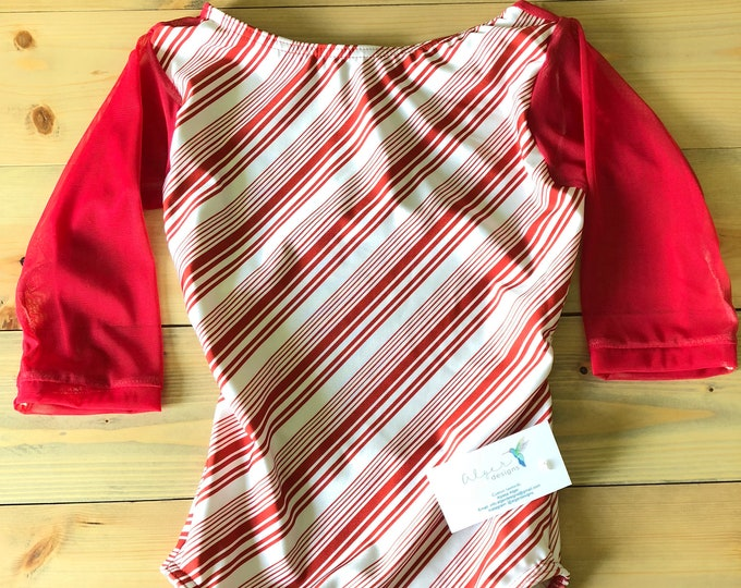 Made to Order - Peppermint Techne with Sheer Red Half Sleeves