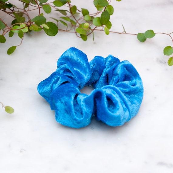 471f76384a45 Blue velvet scrunchy Azure scrunchies cobalt blue scrunchie | Etsy