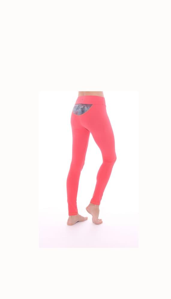 Yoga Leggings Pink Yoga Pants Organic Leggings Light Pink Etsy