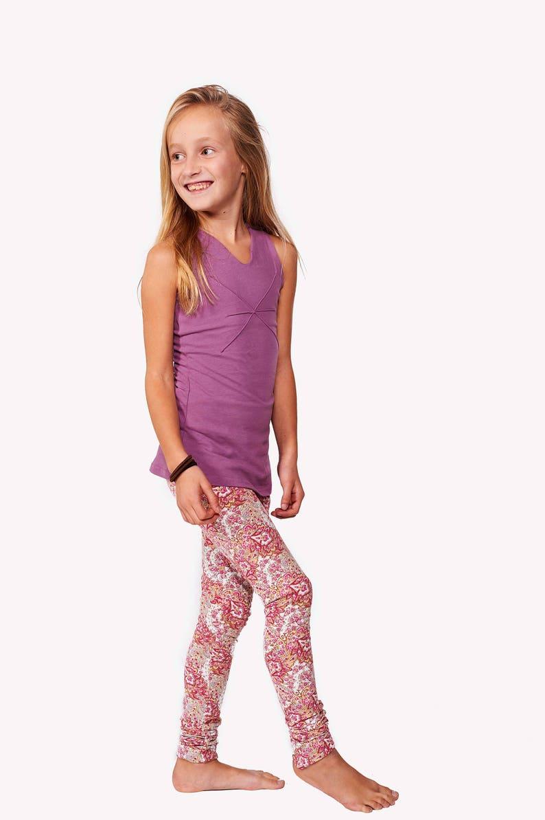 3ba44c725242c Girls Leggings Purple Pants Yoga Girl Leggings Children | Etsy